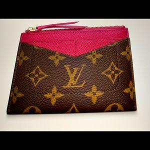 Louis Vuitton zipped 4 card wallet